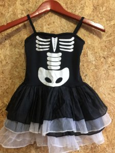 Vestido fantasia infantil esqueleto (P)