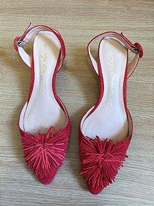 Sapato salto baixo vermelha (38) - Luiza Barcelos