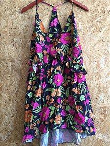 Vestido curto florido (40) - Amaro