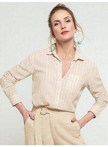 Camisa bege listrada (42)  - Principessa NOVA