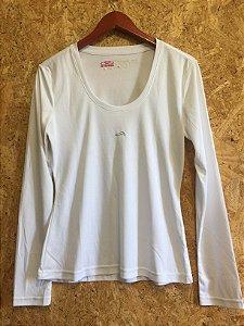 Blusa branca esportiva manga longa (M) - Olympikus