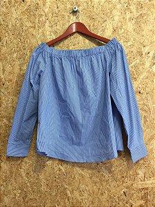 Blusa listrada ombro a ombro (M) - Zara