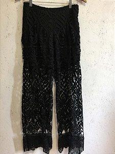 Calça pantalona renda (36) - Iorane
