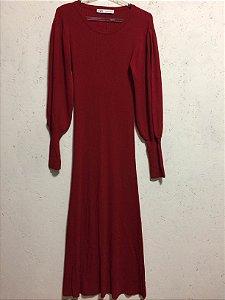 Vestido midi canelado (M) - Zara