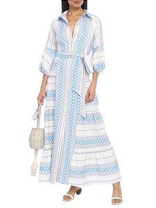 Vestido longo offwhite bordado ( 40) - Iorane