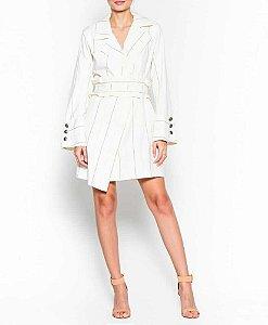 Vestido cinza listra (40) - Iorane