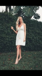 Vestido Curto Madrepérola off white (M) - Lamac NOVO