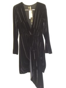 Vestido veludo preto (G) - N.N NOVO