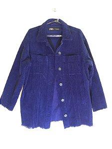 Conjunto veludo cotelê azul marinho (M) - Zara