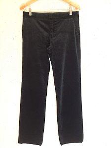 Calça veludo preto (40) - Zara