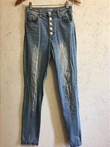 Calça cintura alta (PP) - Apoá