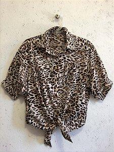Cropped amarração animal print (P) - La Chocolê