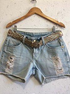 Short jeans com cinto (38 ) - Razzo Denim