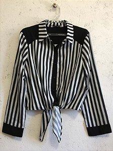 Camisa amarração listras (G) - Betina