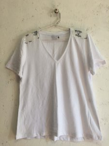 Blusa branca (M) - Cris Gontijo