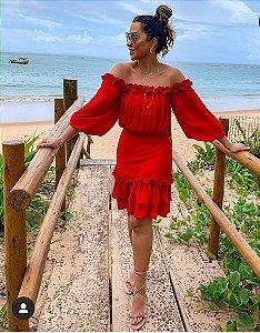 Vestido red (M) - L'allume