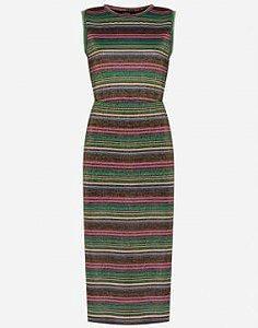 Vestido midi lurex (36) - Amaro