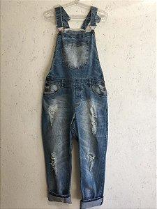 Jardineira jeans (36) - Sly Denim
