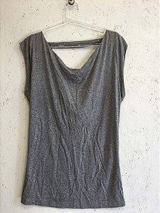 Blusa cinza (M) - Espaço Fashion