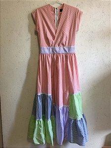 Vestido listras cores (P) - S.Club