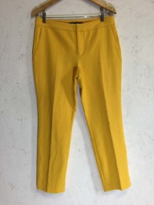 Calça amarela (M) - Zara
