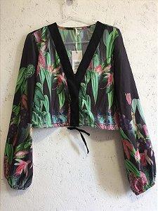 Conjunto estampando  blusa e calça (G) -Quintess NOVO