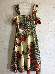 Vestido floral (M) - B Boucle NOVO