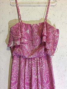 Vestido longo rosa (M) - Le Lis Blanc