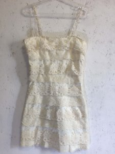 Vestido renda off white (M) - Pieta