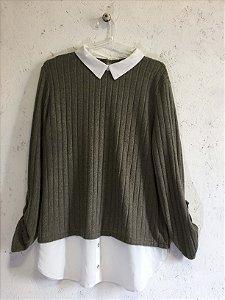 Blusa manga longa e gola (M) - Primark NOVA