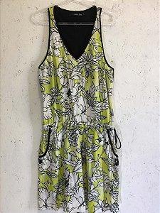 Vestido folhas (M) - Shoulder