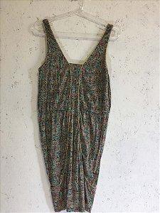 Vestido estampas com cinto (M) - Maria Filó