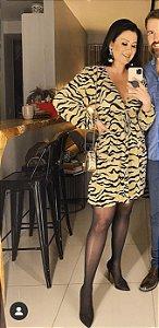 Vestido animal print (P) - Zara NOVO