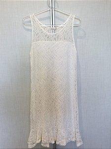 Vestido renda off white (P) - Maria Filó
