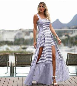 Vestido longo listras (P) - Anne Fernandes NOVO