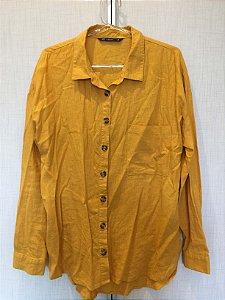Camisa amarela linho (40)