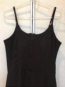 Vestido longo preto (M) - Sandy