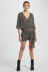 Vestido quadriculado seda (40) - Animale NOVO