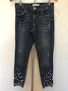 Calça jeans pérola (38) - Zara