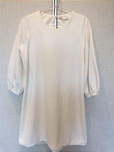Vestido textura off white (P) - Alles NOVO