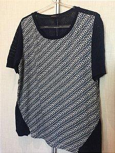 Blusa azul marinho tricot (G) - Maria Filó