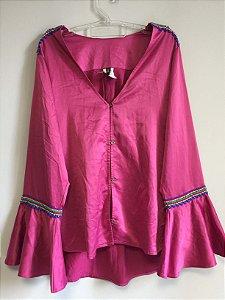 Camisa pink manga flare (44) - Iorane