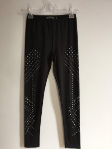 Calça legging malha (P) - Bluesteel