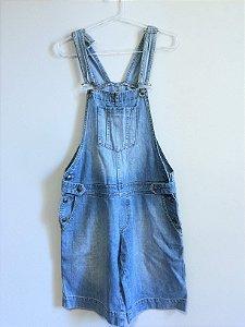 Jardineira jeans (P) - Crissol Jeans