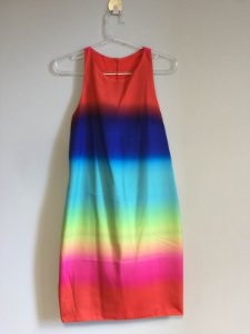 Vestido raybon (M) - Strass