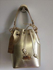Bolsa saco dourada Shoestock NOVA