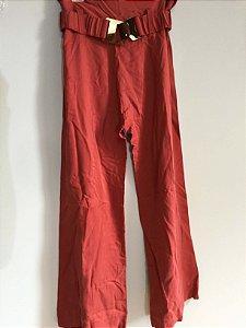 Calça pantalona cinto acrílico (36) - Gaitee NOVO