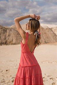 Vestido longo red linho (PP) - Us2