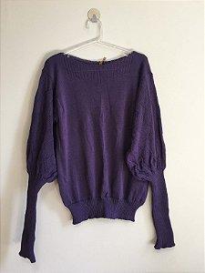 Blusa tricot manga bufante (U) - Lits NOVA