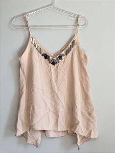 Camiseta rosé detalhes (PP) - Shoulder